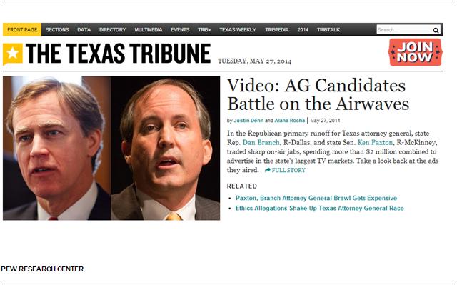 Texas Tribune Homepage
