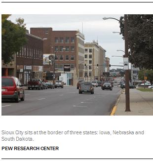 Sioux City sits at the border of three states: Iowa, Nebraska and South Dakota.