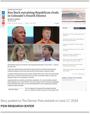 Story posted on The Denver Post website on June 17, 2014