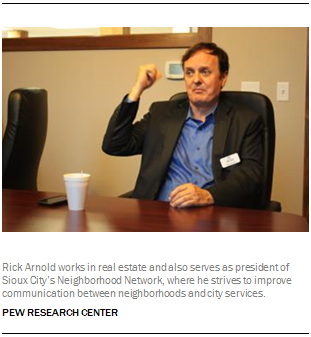 Rick Arnold works in real estate and also serves as president of Sioux City's Neighborhood Network, where he strives to improve communication between neighborhoods and city services.