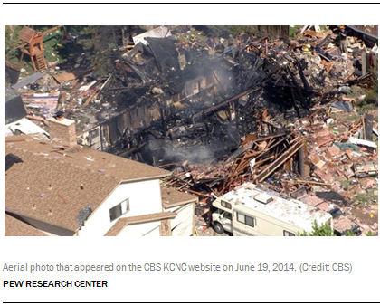 Aerial photo that appeared on the CBS KCNC website on June 19, 2014. (Credit: CBS)