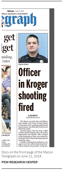 Story on the front page of the Macon Telegraph on June 11, 2014.