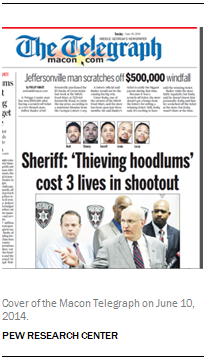Cover of the Macon Telegraph on June 10, 2014.