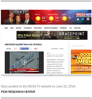 Story posted on the WGXA.TV website on June 10, 2014.