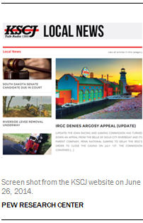 Screen shot from the KSCJ website on June 26, 2014.